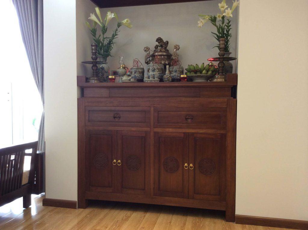 tủ thờ chung cư, bàn thờ đẹp chung cư