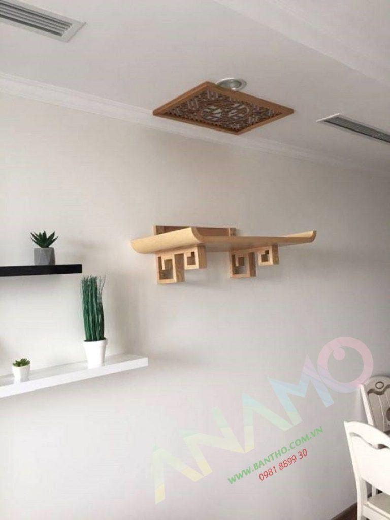 bàn thờ gỗ mít treo tường