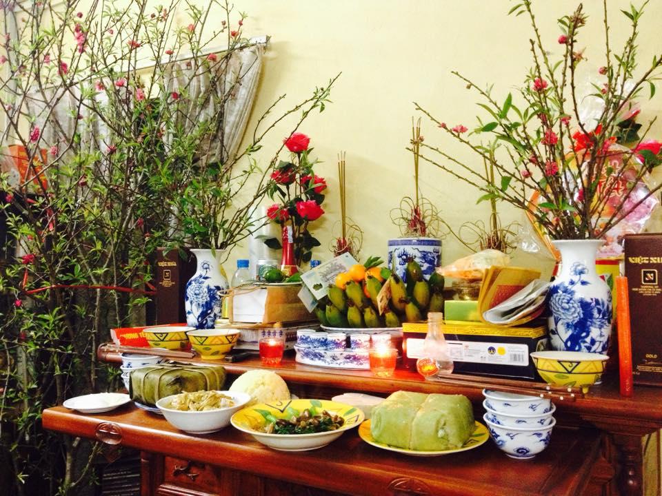 Mâm cơm và văn khấn cúng tất niên chuẩn phong tục Việt