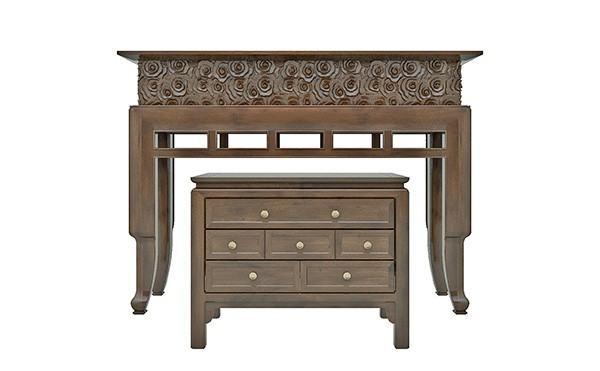 Đóng bàn thờ chung cư bằng gỗ mít
