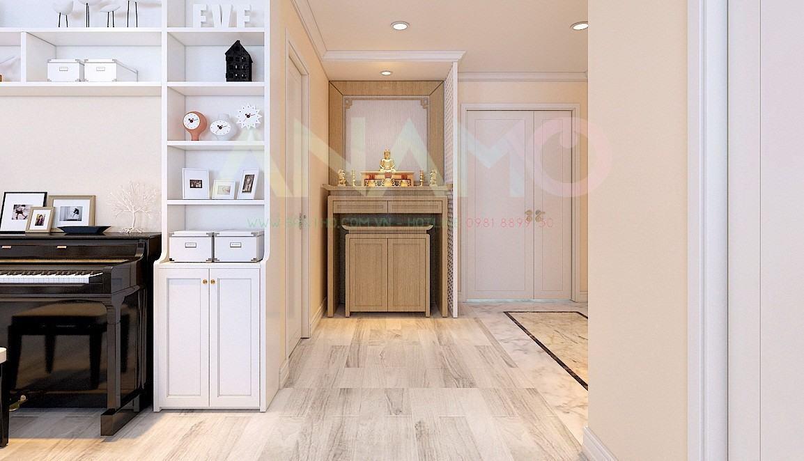 Tránh đặt bàn thờ tủ thờ ở những vị trí nào trong căn hộ chung cư ?