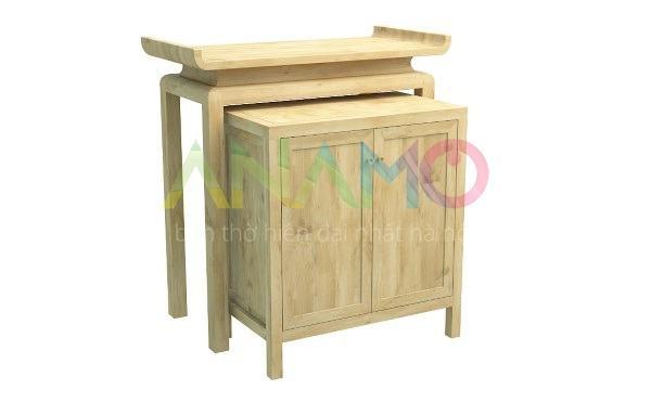Đóng bàn thờ chung cư bằng gỗ gì?