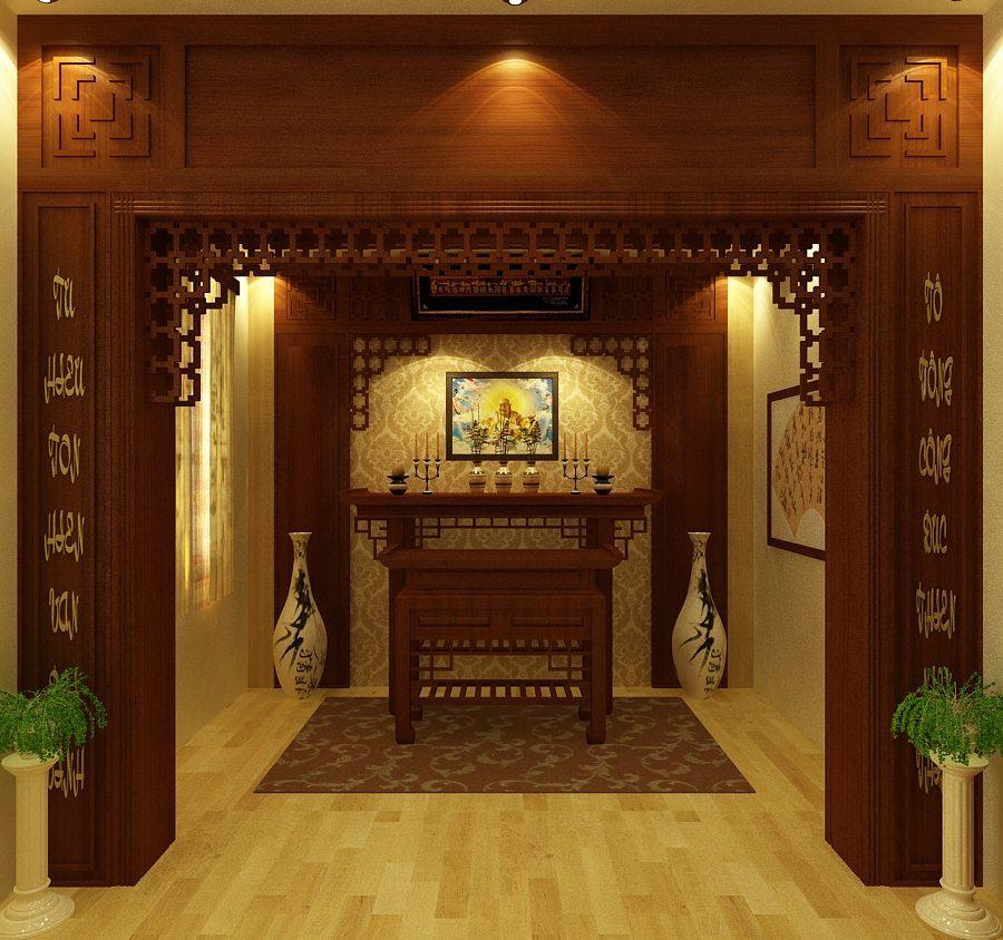 Bàn thờ phật 2 tầng đẹp Anamo