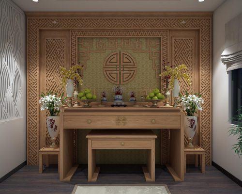 Hình ảnh mẫu bàn thờ đẹp loại phổ thông