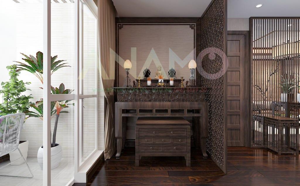 Quan tâm tới cấu trúc khi lựa chọn bàn thờ cho chung cư.